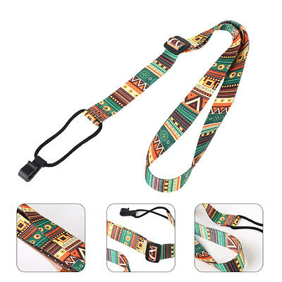 CN_ Adjustable Colorful Ukulele Strap Belt with Hook Guitar Accessories Latest