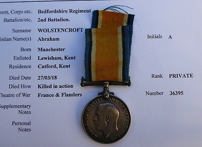 KIA Bedfordshire Regiment