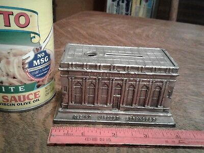 RARE Russell National Bank Souvenir Building, Lewistown PA (1920s lead replica)