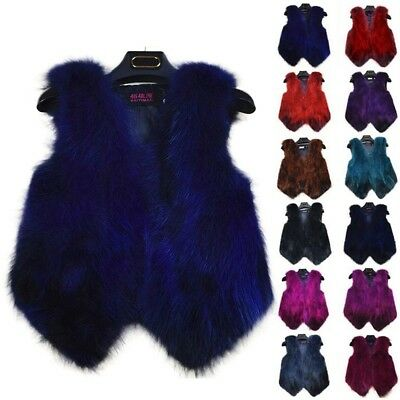 Women's Gilet Ladies Short Jacket Genuine Real Fox Fur Vest Coat Unique New Warm