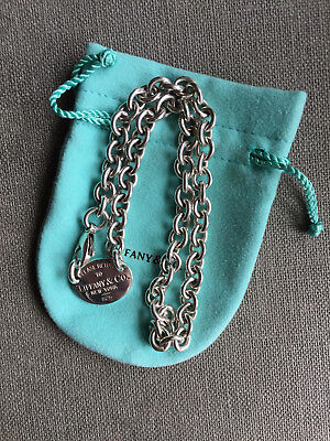Please return to Tiffany & Co. Oval Tag Choker Kette Collier