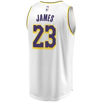 Nuova Canotta/jersey Collezione-Basket Nba-Los Angeles Lakers-Lebron James White