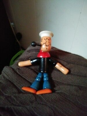 Vintage/Antique 1930's Wooden  Jointed Popeye Figure/Toy