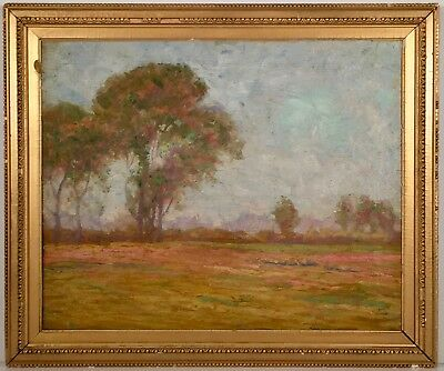 Listed Artist Theodore Wendel (1859-1932) Impressionist Oil On Canvas Painting