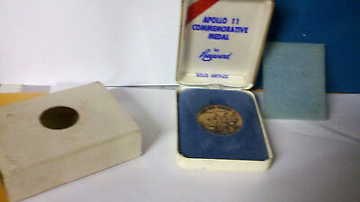 Bronze Apollo 11 Coin  by Hayward in case .FREE SHIPPING