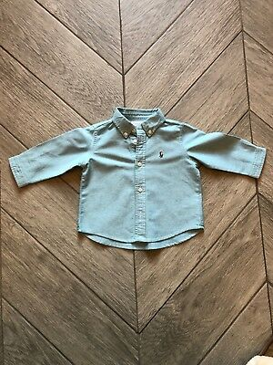 Ralph Lauren Baby Boys Green Shirt 6 Months