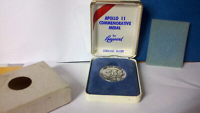 STERLING SILVER Apollo 11 Coin  by Hayward in case .FREE SHIPPING
