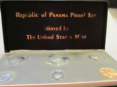1973 Republic Of Panama 6 Coin Proof Set 1 Balboa .900 Fine Silver SEE PICTURES