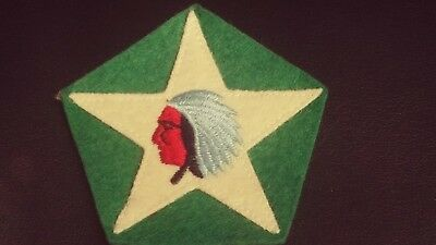 US World War I Army 2nd Division 2nd Supply Train-Star and Indian Head on Green