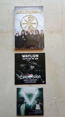 Eurovision 2018 Netherlands Press Booklet, Serbia Notebook, Cd Interval Act