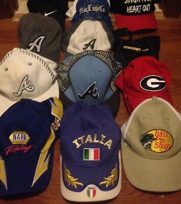 Lot Of 13 Vintage Baseball Snapback Trucker Style Hat Hats Caps