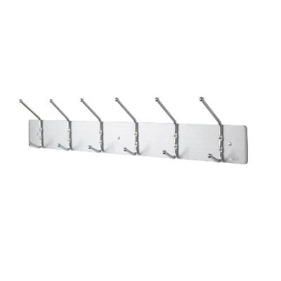 Safco Products 4162 Wall Rack Coat Hook, 6 Hook, Silver FREE2DAYSHIP TAXFREE