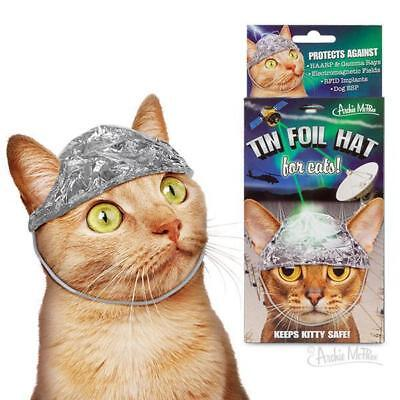 Tin Foil Hat For Conspiracy Theory Cats ! Pet Costumes By Archie McPhee