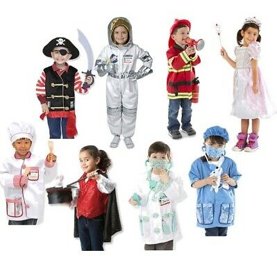 Melissa and Doug Role Play Set | Fancy Dress | Astronaut Doctor Magician Pirate