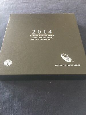 2014 US Mint Limited Edition Silver Proof Set 8 Coins with COA