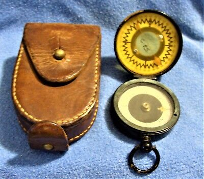 1915 Wwi British Army Captain B.copley Magnapole Marching Sighting Compass &case