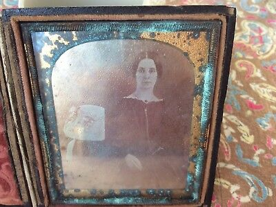 A 6-plate Daguerreotype: a Young Woman - White-collared, dark Dress, about 1850