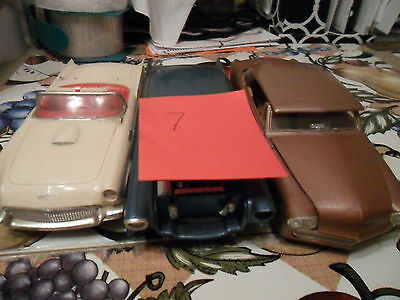 VINTAGE MONOGRAM, AMT ,JO-HAN  LOT OF 3  PARTS CARS  FREE SHIPPING lot 375