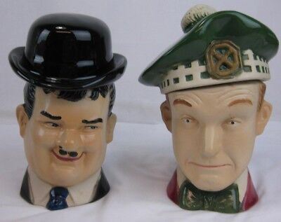 Laurel and Hardy Vintage Ezra Brooks Whiskey Decanter 1976 Decanter Set