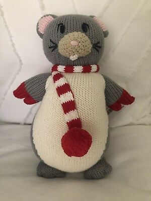 NWT The Beaufort Bonnet Company Knit Night Night Christmas Mouse Doll