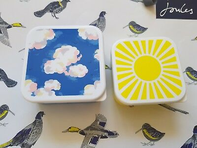Cath Kidston BNWT Two Clouds Sandwich Boxes BRAND NEW CK