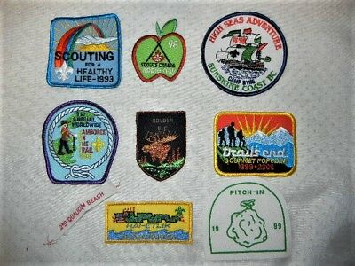 Boy Scouts Canada Patches 1998 Jamboree Apple Day High Seas Adventure Lot Of 9