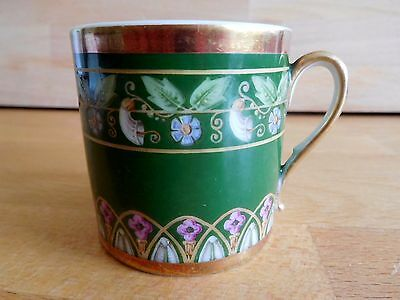 18Th Century French Niderviller Coffee Can With Bands Of Floral Decoration