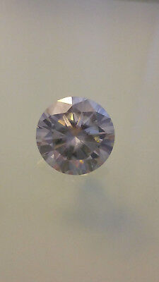 Moissanite Diamant 9.12carat Rund 14.05mm VVS1 white to yellow Diamond Brillant