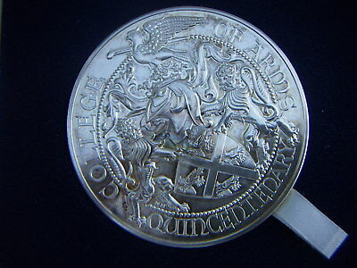 1984 ROYAL MINT COLLEGE OF ARMS QUINCENTENARY SILVER MEDAL WITH RICHARD III 5oz