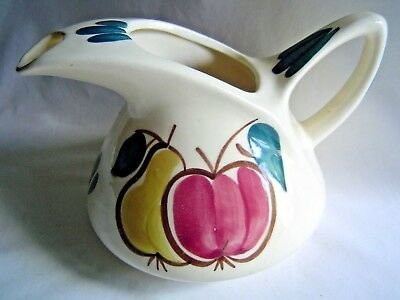 Vintage Purinton Apple & Pear Fruit Pitcher Hand Painted