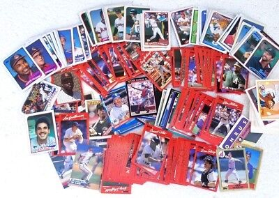 LOT OF 100+ Baseball Set Cards Topps Donruss Collectible Vintage All Players