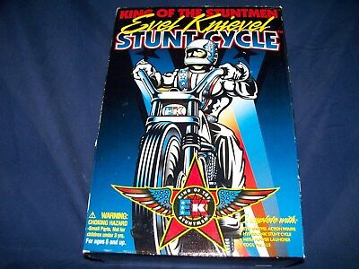 Evel Knievel Stunt Cycle, New, 1998 Playing Mantis & Evel Knievel Scramble Van