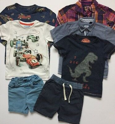 Next Baby Boys Bundle Outfit Tops Shirt Shorts Age 18-24 Months