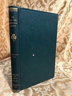 Collections of the New York Historical Society for Year 1907 Antique Book NY