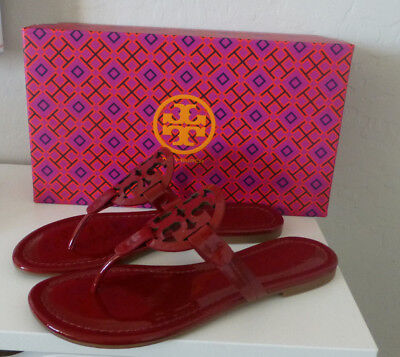 57aca5d7107 NIB Tory Burch Miller Sandal Dark Red Stone Size 7.5 New In Box  51394