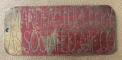 Vintage Associated Oil Co. Brass Tag