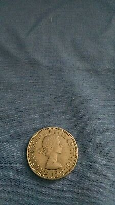 great britain one shilling coin 1965