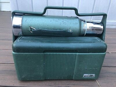 Vintage Green Aladdin Stanley 1 Qt Thermos And Lunchbox Cooler Combo Heavy Duty