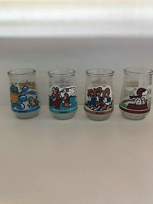 Welchs Jelly Jars Glasses Cups Lot Of 4 Collectibles