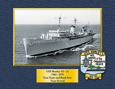USS HUNLEY AS31 Custom Personalized Print of US Navy Gift Idea