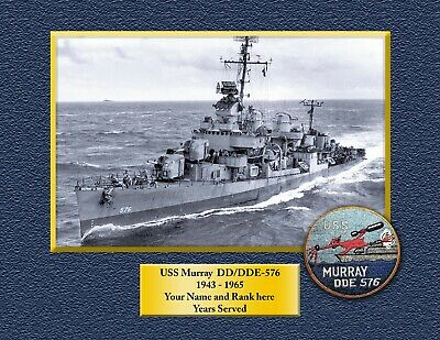 USS MURRAY DD576 Custom Personalized Print of US Navy Gift Idea