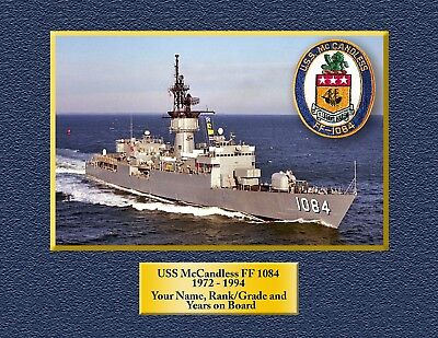 USS McCandless FF 1084 Custom Personalized Print of US Navy Gift Idea