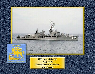 USS LOWRY DD770 Custom Personalized Print of US Navy Gift Idea