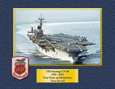 USS SARATOGA CV60 Custom Personalized Print of US Navy Gift Idea