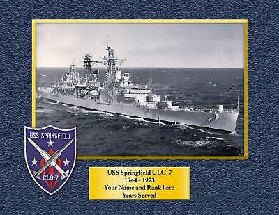 USS SPRINGFIELD CLG7 Custom Personalized Print of US Navy Gift Idea