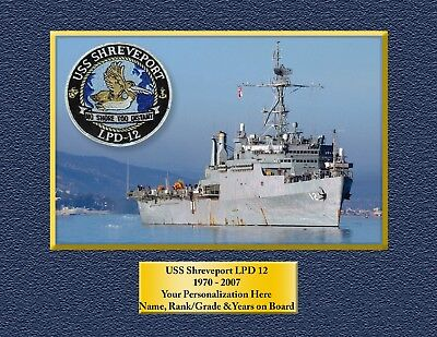 USS SHREVEPORT LPD 12 Custom Personalized Print of US Navy Gift Idea