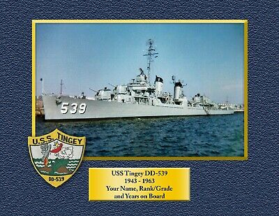 USS TINGEY DD539 Custom Personalized Print of US Navy Gift Idea