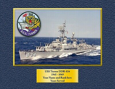 USS TURNER DDR 834 Custom Personalized Print of US Navy Gift Idea