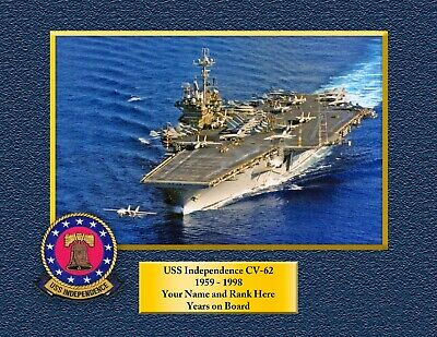 USS INDEPENDENCE CV62 Custom Personalized Print of US Navy Gift Idea