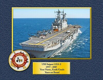 USS SAIPAN LHA 2 Custom Personalized Print of US Navy Gift Idea